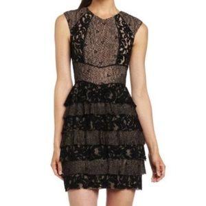 BCBGMAXAZRIA Kayla Lace-Blocked Dress